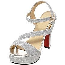 f8aad4b12 AicciAizzi Mujer Moda Tacon Fiesta Zapatos Tacon Alto