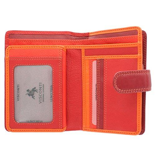 Portafoglio da Donna in Pelle Visconti Rainbow Stile RB51 Rosso Multi Rosso  Multi. Portafoglio in pelle morbida con ... 964be4e3bf7