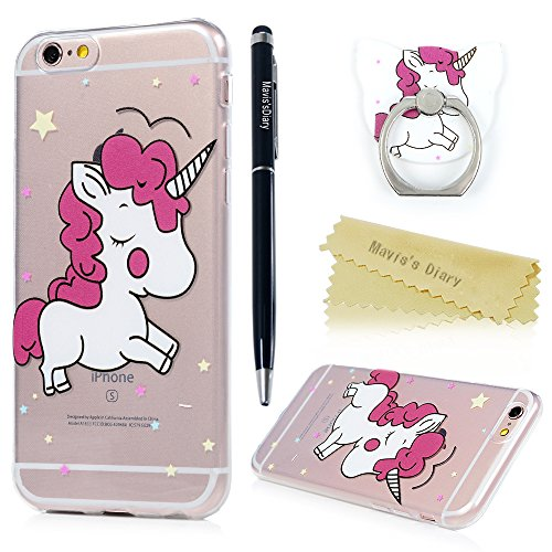 Coque iPhone 6 / 6S Mavis's Diary Étui Housse TPU Silicone Gel Coque de Protection Transparente Phone Case Cover Antichoc Protection écran Swag pour iPhone 6 / iPhone 6S 4.7'' Ultra Fine Léger Mince S Licorne