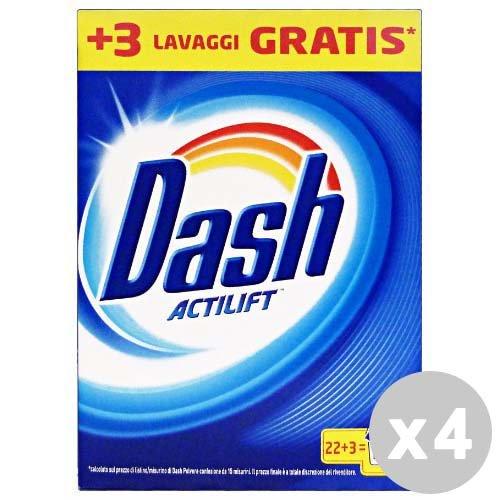 DASH Set 4 Waschmittel Waschmaschine Staub 22+ 3Wäschen klassisch 4 Dash