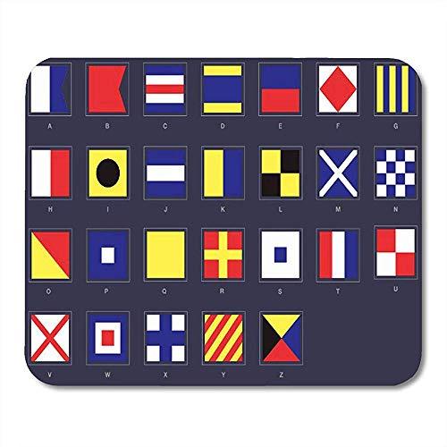 Gaming pad,cuscinetto di gioco decorativo attraente marino portatile del segnale di codice del diagramma della bandiera nautica internazionale per la decorazione del computer dell'ufficio 30x25 cm