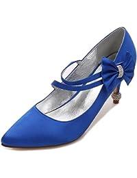 Elegant high shoes Scarpe da Sposa per Donna Punta Chiusa con Fibbia Plateau Tacco Alto Scarpe con Plateau/17767-6