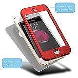 HICASER iPhone SE 360 Grad Hülle + Panzerglas, Komplettschutz Vorder und Rückseiten Schutz Schale Ganzkörper-Koffer Soft TPU Schutzhülle für iPhone 5 / 5s Schwarz - 3