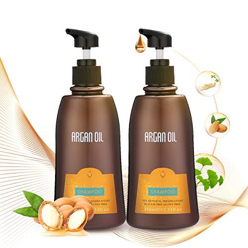 Janolia Shampoo Set, 350ml Shampoo+ 350ml Conditioner, Arganöl, Natürliche Behandlung für trockenes, beschädigtes oder farbbehandeltes Haar - Natürliches Shampoo Und Conditioner