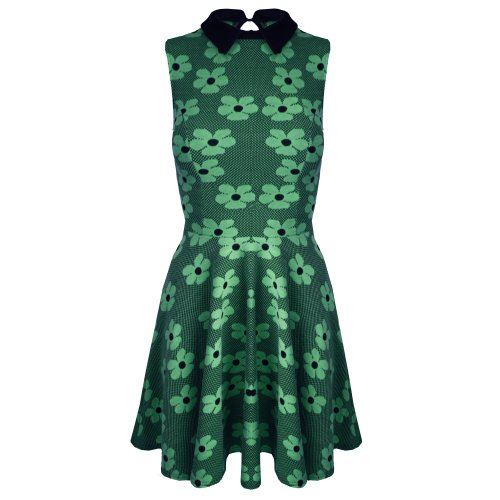 Be Jealous -  Vestito  - Donna Teal - Peter Pan Collar Stretchy Girls Skater