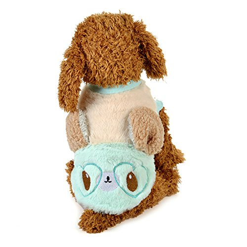 (Hund Plüsch Kleidung, Eichhörnchen Pullover Hund Kostüme Winter Pet Kleine Hund Kleidung Warmen Mantel 2 Farbe & 5 Größe ( Color : Light Blue , Size : XL ))