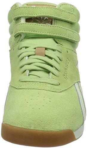 Reebok Freestyle, Sneaker a collo alto in pelle scamosciata Donna Multicolore (Mehrfarbig (SEA GLASS/CHALK/SANDTRAP/TAN))