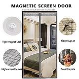 DULPLAY 3D Rahmen Velcro Magnet fliegengitter tür,Mesh-Vorhang,Magische tür Mesh Atmungsaktive Dichtung DIY Verstellbare Fenster -F 95x200cm(37x79inch)