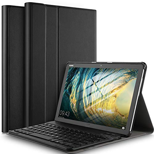 IVSO Teclado Estuche Huawei MediaPad M5 Lite 10 QWERTY