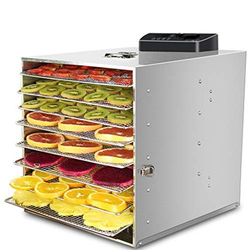 Preisvergleich Produktbild YUAN 400W Edelstahl Timing Temperaturregelung Große Kapazität Trockner 8-Schicht-Lebensmittel-Trockenmittel