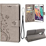 Teebo Wallet Case for HTC ONE X10, 3 Card Holder Embossed