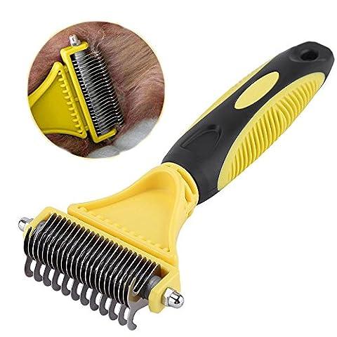 Weihi pour animal domestique Chien démêler Peigne Brosse de toilettage Chat Cheveux Cutter Outil
