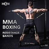 MMA Boxing Resistance Band Set Enhance Potere Esplosivo per l'allenamento della Forza per Muay Thai, Karate Combat, Fitness, Basket, Pallavolo, Calcio Uomo e Donna (225LB Camo Army Green)
