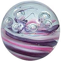 Bola de ensueño 209(grande 6,5–7cm) púrpura de color rosa de color blanco con burbujas–Bolas de cristal, pisapapeles