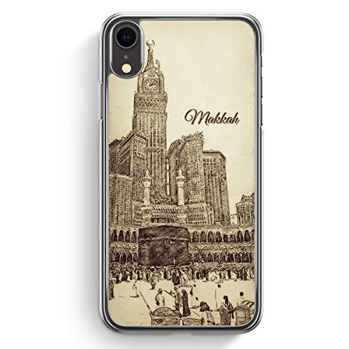 Vintage Panorama Makkah Mekka - Hülle für iPhone XR Hardcase Cover - Motiv Design Islam Muslimisch Schön - Transparente Durchischtige Handyhülle Schu