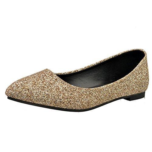 Scarpe a punta moda signora su tempo libero/Piatto poco profondo a tacco basso/Coreano piatto scarpe donna B