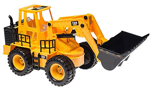 RC Auto kaufen Spielzeug Bild 2: Top Race 5 Kanal voll funktionsfähiger Frontlader, Elektro RC Fernsteuerung BauTraktor TR-113 (mit Licht & Sounds), Gelb*