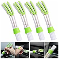 ZaCoo Set of 4 Automotive Air Conditioner Cleaner and Brush Dashboard Dust Cleaning Brush Soft Brush
