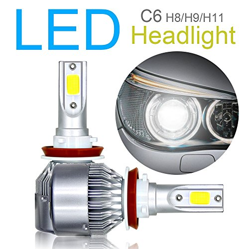 2PCS H8/H9/H11 LED Headlight Bulbs Conversion Kit, Advanced COB chips High/Low Beam/Fog Light bulbs 10800LM 6000 K 120 W super luminoso bianco