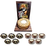 TYYC Radha Krishna Votive Tealight Candle Holder | New Year Gifts Items Divine Radha Krishna Idol Tea Light Holders Set Of 11| T-lights Candles Diyas Lights For Pooja, Puja, Mandir Home Decor Items
