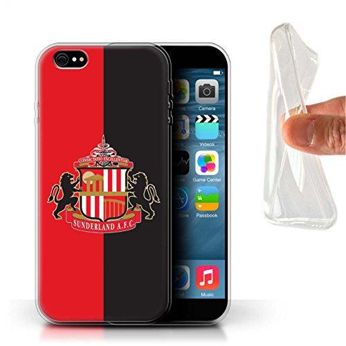 Offiziell Sunderland AFC Hülle / Gel TPU Case für Apple iPhone 6S+/Plus / Pack 6pcs Muster / SAFC Fußball Crest Kollektion Rot/Schwarz