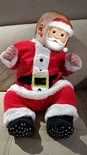 berretto e guantini Tutina per neonato con teschio di Halloween con pantaloni