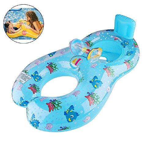 YONG-SHENG Mutter Baby Schwimmen Treibende Ringe aufblasbar Baby Hilfe Sicherheit Pool Boot Spielzeuge Floß Spiel mit Sitz Dual Schwimmen Ringe für Alter 6 bis 36 Monaten