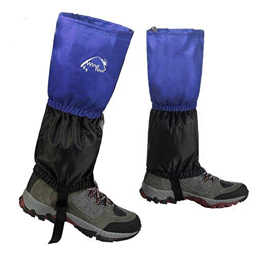 InnoLife Unisex resistente al agua, golpes polainas de senderismo escalada Caza Nieve Legging Cubierta para las piernas Wraps, color azul, tamaño talla única