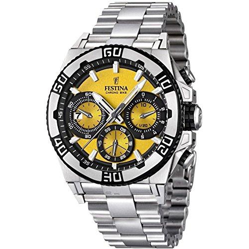Festina Herren-Armbanduhr XL Tourchrono 2013 Chronograph Quarz Edelstahl F16658/7