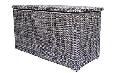 Baidani Ronde XXL Rattan Kissenbox, grau, 150 x 86 x 109 cm