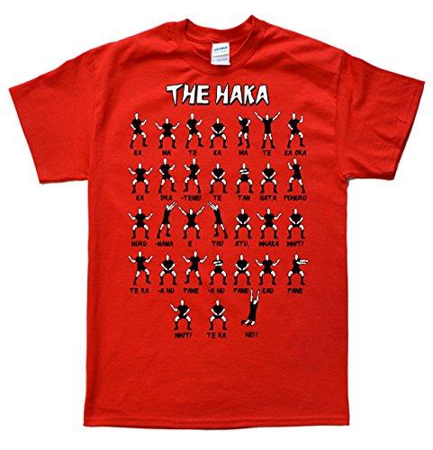 New Zealand Rugby Haka Rouge T-Shirt, Taille L par  JeKat