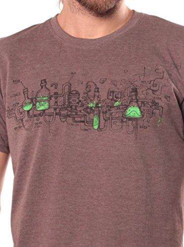 Herren T-Shirt mit Test This Aufdruck - handgefertigt durch Siebdruck auf 100% Baumwolle - Street Habit Braun