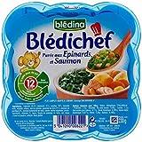 Blédina Chef De La Purée D'Épinards Et De Saumon (12 Mois) 230G - Paquet de 2