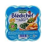 Bledina Koch Püree Spinat Und Lachs (12 Monate) 230G - Packung mit 4
