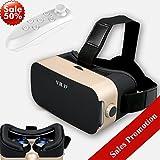 Bevifi VR - Auriculares de realidad virtual 3D con mando a distancia, gafas de realidad virtual con mando a distancia, caja de visualización para juegos de película 3D para iPhone X 8 7 6 Plus Galaxy S8 S7 S6 Edge (mejor regalo de Navidad)