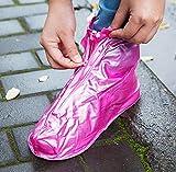 XIE Copertura per Scarpe da Pioggia Spessa/Copertura per Scarpe da Uomo in PVC Impermeabile/Copertura per Scarpe da Pioggia Antiscivolo / 35-40,Rosa,36