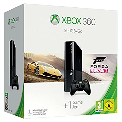 Microsoft Xbox 360 500GB + Forza Horizon 2 - game consoles (Xbox 360, HDD, Black, 802.11b, 802.11g, 802.11n, DDR3, IBM PowerPC)