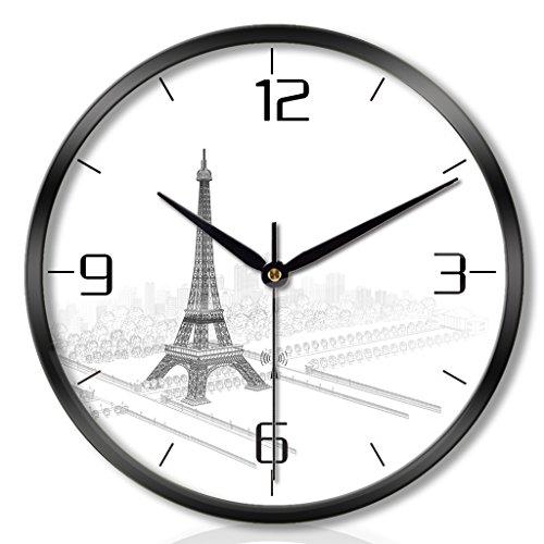 ZML Horloge Murale, Radio-piloté, Non-coutil, Rond, Salon Chambre