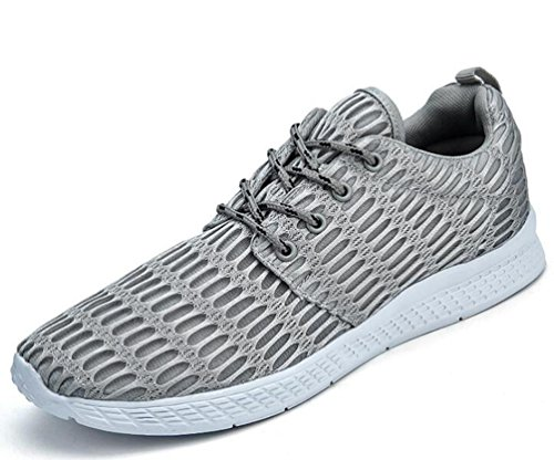 Mesh Lightweight Running Climbing Tennis Athletic Comodo Lace-up Scarpe Uomo UE Taglia 35-48 Grey