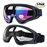Best Motorcycle Goggles - Outgeek Ski Goggles, 2-Pack Skate Glasses with Uv Review