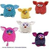 Furby 'Pink, weiss, blau, gelb, Orange, Purple'8 Zoll, nur eine Plüschtier zufällig enthalten)