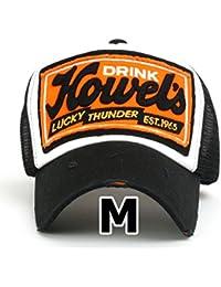 ee294f52d78 ililily Howel s Distressed Vintage Cotton Baseball Mesh Cap Snapback Big Trucker  Hat
