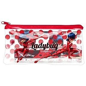 Miraculous–Estuche escolar garnie Plate 4piezas Ladybug Miss Marinette