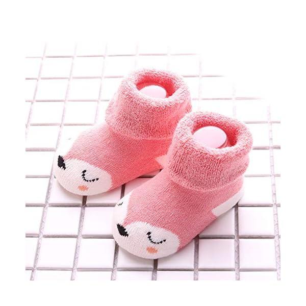 Sweetneed 5 Pares Calcetines Recien Nacido niño Calcetines de recién nacido Calcetines bebe niña Invierno 0-36 Meses 4