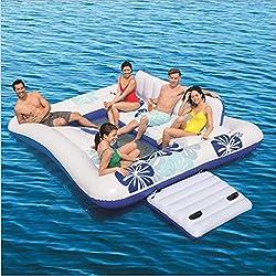 Isla Flotante Inflable, Fila Flotante De Sillas En El Agua, con Capacidad para 5-6 Personas, Adecuada para El Verano Piscina Al Aire Libre Fiesta En La Playa Juguetes