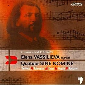 There was no Wind for Soprano & String Quartet, No. 61