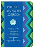 Internet Password Logbook - Pattern Edition: Keep track of: usernames, passwords, web addresses in one easy & organized location (Stationery)