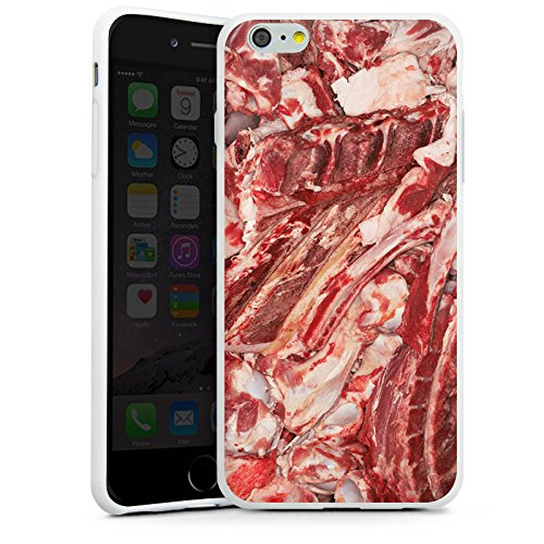 Apple iPhone 5c Silikon Hülle Case Schutzhülle Bacon Design Schinken Silikon Case weiß