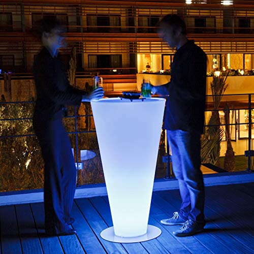 In hohem Grade wasserdichter drahtloser Diätstandlichtbunter Cocktail-Stehtisch des hohen Lichtes Wieder aufladbares im Freien