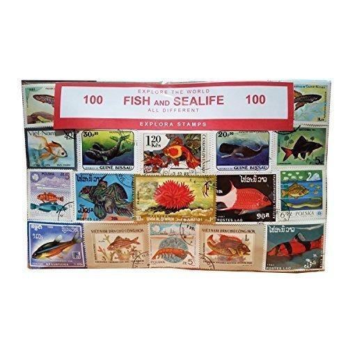 ife und Marine Animals Briefmarken Collection–100verschiedene Briefmarken. Souvenir/Speicher/MEMORIA. Collectible Briefmarken aus der ganzen Welt. Timbre/Stempel/francobollo/Sello (Einkaufszentrum). (Sea World Souvenir)